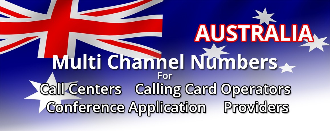 Australia Numbers unlimited channels| Calling Cards ,Call Centers Supported